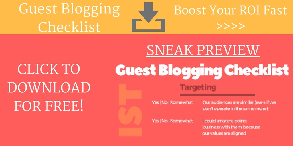 Download Free Guest Blogging Checklist