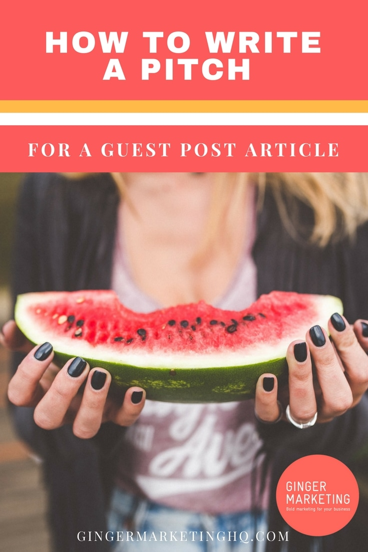 How To Write A Pitch For A Guest Post Article